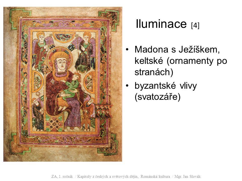 Iluminace [4] Madona s Ježíškem, keltské (ornamenty po stranách)